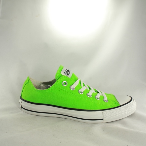 lime green converse low tops